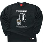 SPALDING×Basketball Junky Free Throw ロングDryTEE (ブラック)