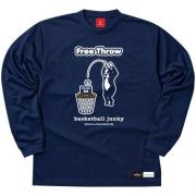 SPALDING×Basketball Junky Free Throw ロングDryTEE (ネイビー)