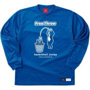 SPALDING×Basketball Junky Free Throw ロングDryTEE (ブルー)